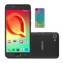 Smartphone Alcatel A5 Max LED Edition Preto Octa-Core 32GB 3GB RAM + Capa de LED Interativa -