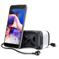 Smartphone Alcatel IDOL4 Preto e Cinza + Oculos VR 16GB+ SD 32GB 3GB RAM Octa Core Camera 13MP