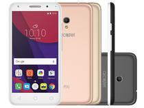 Smartphone Alcatel PIXI4 5 Metallic 8GB Branco - Dual Chip 4G Câm. 8MP + Selfie 5MP Cartão 16GB