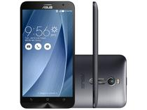 "Smartphone Asus ZenFone 2 32GB Prata Dual Chip 4G - Câm 13MP + Selfie 5MP 5.5"" Full HD Proc. Quad Core"