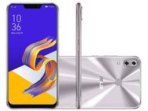 """Smartphone Asus Zenfone 5Z 64GB Prata 4G Octa Core - 4GB RAM Tela 6,2"""" Câm. 12MP + 8MP + Selfie 8MP"""