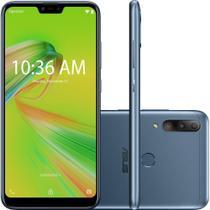 "Smartphone Asus Zenfone Max Shot Plus 128GB (64GB + 64GB de Cartão MicroSD) Azul Octa-Core 4GB de RAM Tela 6,2"" Câm.Tripla + Selfie 8MP -"