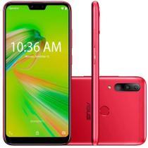 """Smartphone Asus Zenfone Shot Plus 128GB (64GB + 64GB de Cartão MicroSD) Vermelho Octa-Core 4GB de RAM Tela 6,2"""" Câm.Tripla + Selfie 8MP -"""