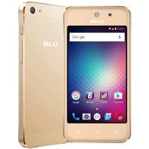 "Smartphone Blu 5 Mini V050Q 3g Dois Chips Tela 4.0"" 8gb Câm. 5mp/3.2mp Dourado -"