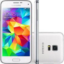 Smartphone Dual Chip Samsung Galaxy S5 Mini Duos Desbloqueado Branco Android 4.4 -