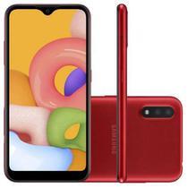 Smartphone galaxy a01 vermelho  samsung -