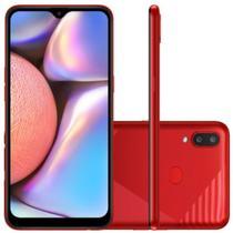 """Smartphone Galaxy A10s NEW Câmera Dupla Traseira 13MP Tela de 6,2"""" Octa Core Vermelho Absurdo - Samsung"""