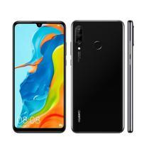 "Smartphone Huawei P30 Lite 128GB 6,15"" 4G Câmera Tripla 24MP+8MP+2MP 4GB Dual Chip Preto -"