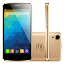 Smartphone Intel X-GOLD W509 Dual Chip Tela 5.0 3g 16gb 8mp Dourado - Qbex