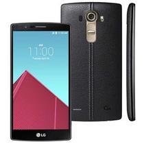 """Smartphone LG G4 Dual Chip H818P em Couro Preto, com Tela de 5.5"""", Android 5.0, 4G, Câmera 16MP e Processador Hexa Core de 1.8 GHz -"""