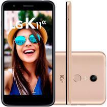 Smartphone LG K11 Alpha 16GB Dual Chip Tela 5.3 Câmera 8MP Frontal 5MP Android 7.1 Dourado -