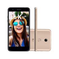 "Smartphone LG K11 Alpha LMX410BTW 16GB 5.3"" Dual Dourado 4G -"