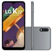 "Smartphone LG K22 32GB 2GB RAM Câmera Dupla 13MP + 2MP Frontal 5MP Tela 6,2"" Android 10 - Titan -"
