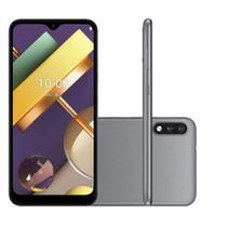 "Smartphone LG K22 32GB 2GB RAM Câmera Dupla 13MP Tela 6.2"" - Titânio -"
