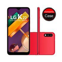 """Smartphone LG K22 32GB 2GB RAM Tela 6.2"""" Câmera Dupla Traseira 13MP + 2MP Frontal 5MP Bateria de 3000mAh Red -"""