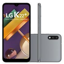 "Smartphone LG K22+ 64GB 3GB RAM Câmera Dupla 13MP + 2MP Frontal 5MP Tela 6,2"" Android 10 - Titan -"