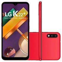 """Smartphone LG K22+ K200baw 64GB 3GB RAM Câmera Traseira 13MP + 2MP e Frontal 5MP Tela 6.2"""" Vermelho -"""