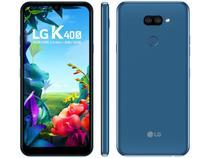 "Smartphone LG K40S 32GB Azul 4G Octa-Core 3GB RAM - 6,1"" Câm. Dupla + Selfie 13MP Dual Chip"