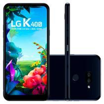 "Smartphone LG K40s 32GB Dual Chip 4G Tela 6,1"" Câmera Dupla 13MP 5MP Frontal 13MP Preto -"