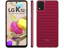 """Smartphone LG K52 64GB Vermelho 4G Octa-Core - 3GB RAM Tela 6,6"""" Câm. Quádrupla + Selfie 8MP"""