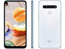 Smartphone LG K61 128GB 4G Wi-Fi Tela 6.5'' Dual Chip 4GB Ram Câmera Quádrupla + Selfie 16MP - Branco -