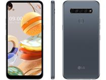 "Smartphone LG K61 128GB 4G Wi-Fi Tela 6.5"" Dual Chip 4GB Ram Câmera Quádrupla + Selfie 16MP  Titânio -"