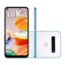 """Smartphone LG K61 128GB 4GB RAM Tela 6,55"""" Câmera Quádrupla Traseira 48MP + 8MP + 5MP + 2MP Frontal de 16MP Bateria 4000mAh Branco -"""