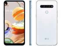 "Smartphone LG K61 128GB Branco 4G Octa-Core - 4GB RAM 6,53"" Câm. Quádrupla + Selfie 16MP -"