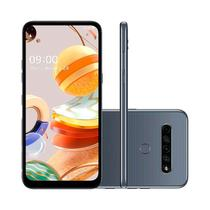 "Smartphone LG K61 Dual Chip Android 9.0 Pie 6.53"" Octa Core 128GB 4G Câmera 48 MP + 8 MP + 2 MP + 5 MP - Titânio -"