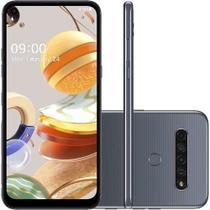 """Smartphone LG K61 Titânio 128GB, RAM de 4GB, Tela de 6,55"""" HD+ 19.5:9, Inteligência Artificial, Câmera Quádrupla -"""