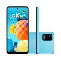 """Smartphone LG K62+ 128GB 4GB RAM Tela de 6,59"""" Câmera Quadrupla Traseira 48MP + 5MP + 5MP + 2MP Frontal de 28MP Bateria 4000 mAh Azul -"""