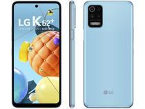 "Smartphone LG K62+ 128GB Azul 4G Octa-Core 4GB RAM - Tela 6,59"" Câm. Quádrupla + Selfie 28MP Dual Chip"