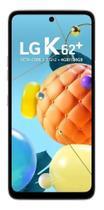 "Smartphone LG K62+ 128GB Branco 4G Octa-Core - 4GB RAM Tela 6,59"" Câm. Quádrupla + Selfie 28MP -"