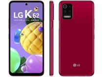 """Smartphone LG K62 64GB Vermelho 4G Octa-Core - 4GB RAM Tela 6,59"""" Câm. Quádrupla + Selfie 13MP"""