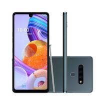 """Smartphone LG K71 128GB 4GB RAM Tela 6.8"""" Câmera Tripla Traseira 48MP + 5MP + 5MP Frontal de 32MP Bateria de 4000mAh Titânio -"""