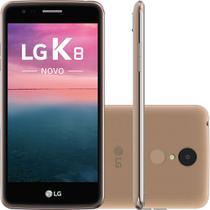 """Smartphone LG K8 2017 Dual Chip Android Tela 5"""" Quadcore 16GB 4G Wi-Fi Câmera 13MP Dourado - LG -"""