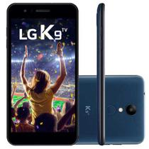 Smartphone LG K9 Azul 16GB, Android 7.0, Dual Chip, TV Digital, Tela 5.0HD, Cmera 8MP, Processador Quad Core 1.3 Ghz e 2GB de RAM - LMX210BMW