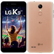 "Smartphone LG K9 TV, Dual Chip, Dourado, Tela 5"", 4G+WiFi, Android 7.0, 8MP, 16GB, TV Digital -"