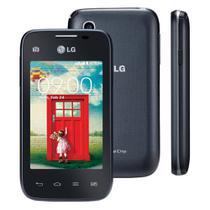 Smartphone LG L35 D157 4GB Tela 3.2 IPS Android 4.4 Câmera 3MP TV Digital Dual Chip -