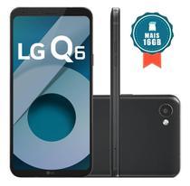 Smartphone LG Q6 32GB Dual Chip 4G Tela 5.5 Full Hd+ Octacore Câmera 13MP - Preto + Cartão SD 16GB -