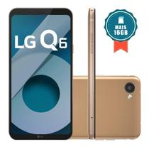 Smartphone LG Q6 32GB Dual Chip 4G Tela 5.5 Full Hd+ Octacore Câmera 13MP - Rose Gold + Cartão SD 16GB
