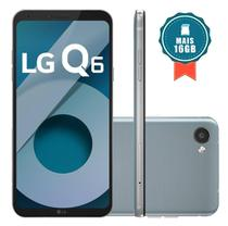 Smartphone LG Q6 Dual Chip Android 7.0 Tela 5.5 Full Hd+ Octacore 32GB 4G Câmera 13MP - Platinum + Cartão SD 16GB -