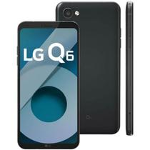 "Smartphone LG Q6 LGM700TV Preto 32GB 5,5"" Dual Chip Octa Core 13MP 3GB RAM -"