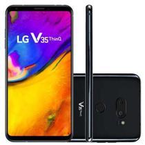 """Smartphone LG V35+ ThinQ 128GB 6GB RAM Câmera Traseira 16MP Câmera Frontal 8MP Tela 6"""" Preto -"""