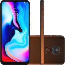 """Smartphone Moto E7 Plus Dual Chip Desbloqueado Android 10 Tela 6.5"""" 64GB 4G Câmera 48MP+2MP Qualcomm Snapdragon - Bronze Âmbar - Motorola"""