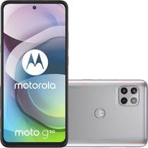 "Smartphone Moto G 5G 128GB Dual Chip Android 10 Tela 6.7"" Câmera 48MP + 8MP + 2MP - Prata Prisma - Motorola"