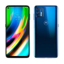"Smartphone Moto G9 Plus Azul Indigo, Tela 6.8"", 4G+Wi-Fi+NFC, Android 10, Câm Tras.64+8+2+2MP e Frontal 16MP,4GB RAM,128GB - Motorola"