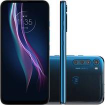 "Smartphone Motorola 6,5"" XT2067-2 Moto One Fusion Plus Dual chip 4GB Ram 128GB Câmera 64MP Azul -"