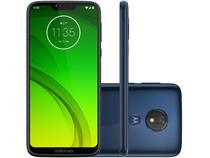 "Smartphone Motorola G7 Power 64GB Azul Navy 4G - 4GB RAM Tela 6,2"" Câm. 12MP + Câm. Selfie 8MP"