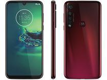 "Smartphone Motorola G8 Plus 64GB Cereja 4G - 4GB RAM Tela 6,3"" Câm. Tripla + Câm. Selfie 25MP"